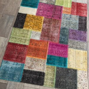 patchwork hali renkli-a